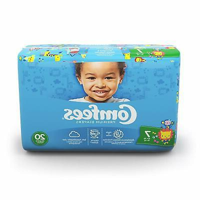 Comfees CMF-7 Baby Diapers Size 7, 41+lbs, 20/Bg