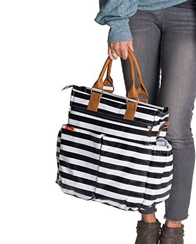 Diaper by Zohzo Tote with Pad, Insulated Pockets, Pocket, Waterproof Material, Straps, Shoulder Diaper