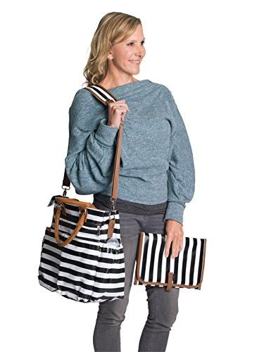 Diaper Bag for by Tote with Changing Pad, Insulated Pockets, Pocket, Waterproof Straps,