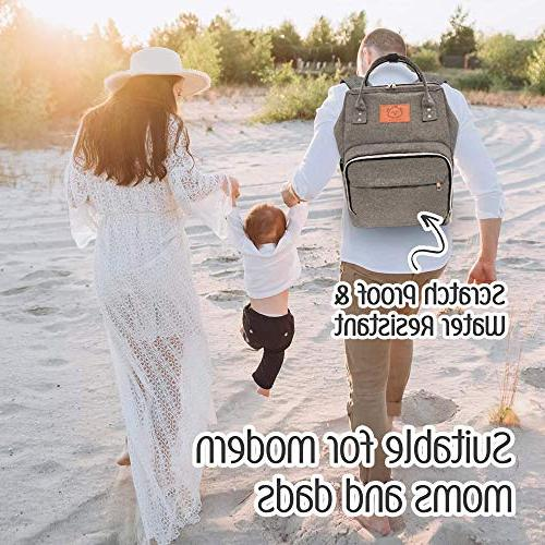 Baby - Multi-Function Baby Bags Dad, Men, - Large Maternity Nappy Bags for Boys - Durable, Diaper Mat