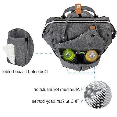 Lekebaby Large Diaper Bag Backpack Mom