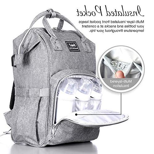 BabyX Bag with Waterproof Nappy & Dad Organizer Baby Changing Durable and Stylish –Grey