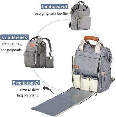 Diaper Bag Backpack and Boys Waterproof