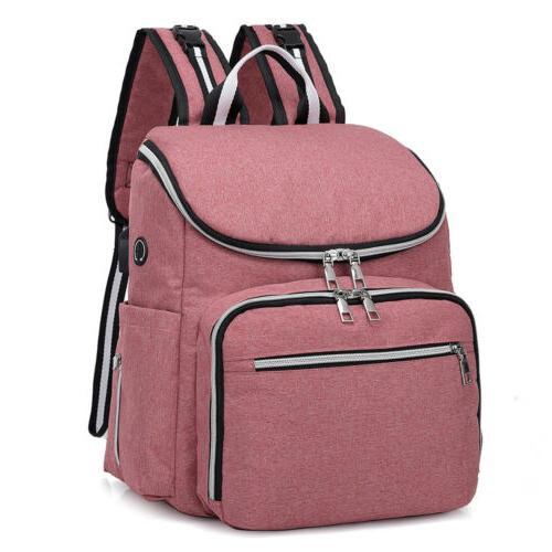 Diaper Bag Baby Travel USB Charging Mummy Nappy Handbag