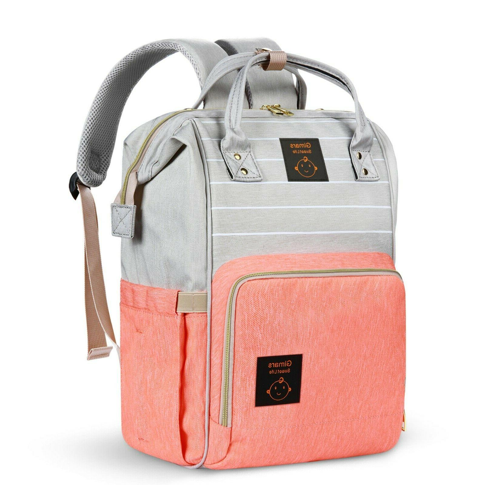 Diaper - Travel Bags-pinkgray