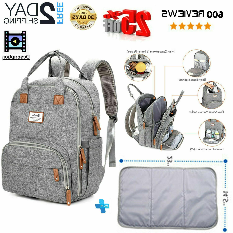 Diaper Bag Backpack,RUVALINO Multifunction Travel Back Maternity