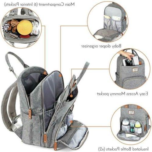 Diaper Backpack, RUVALINO Multifunction Travel Back