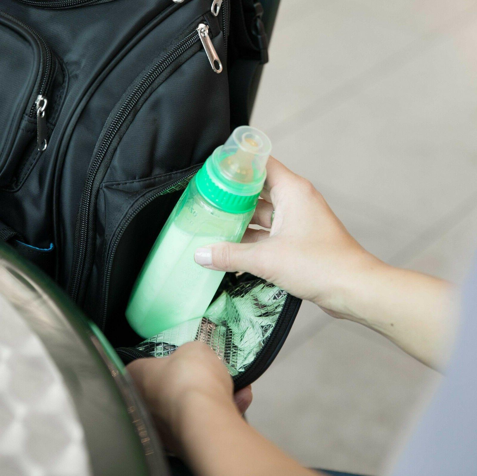 Diaper Bag Backpack Straps, Wipes Dispenser.