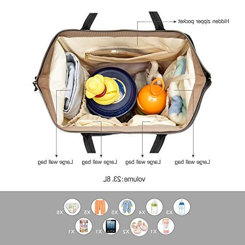 PIPI Diaper Bag Travel Large Tote Bag Organizer Baby with