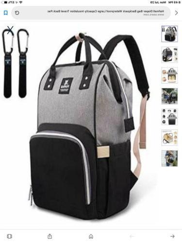 diaper bag backpack waterproof insulation
