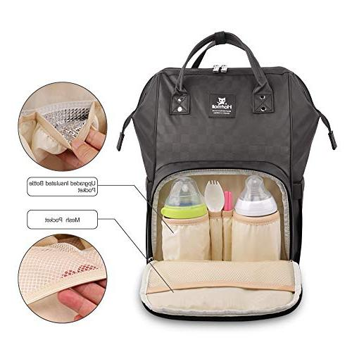 Hafmall Waterproof Multi-Function Large Capacity Durable Baby with Straps Mom Dad
