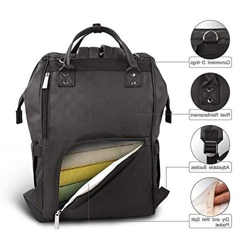 Hafmall Bag Backpack Waterproof Travel Baby with Straps for and Dad