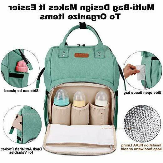 Diaper Backpack Travel Baby Large Capacity 2 Free Gift