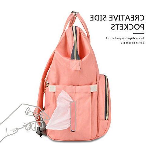 HaloVa Diaper Waterproof Travel Bags Large Durable, Gray