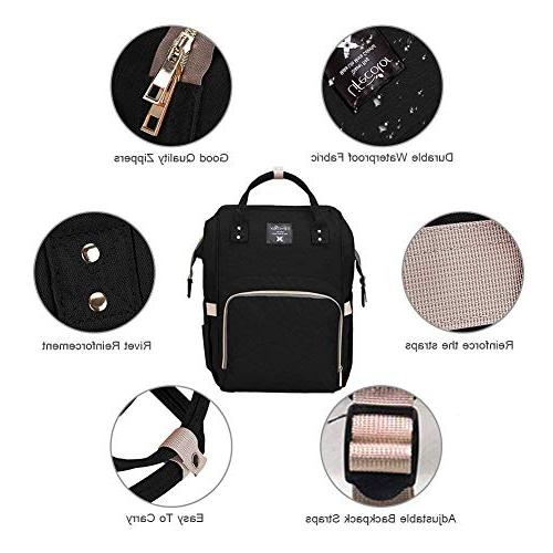 Diaper Bag Multi-Function Travel Backpack Bags for Care, Large Capacity, and Mom Bag
