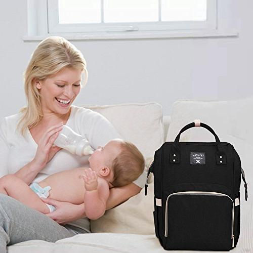 Diaper Bag Waterproof Travel Backpack for Baby Capacity, Stylish Mom Lifecolor