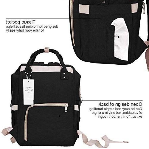 Diaper Bag Multi-Function Travel Backpack Nappy for Baby Care, Mom