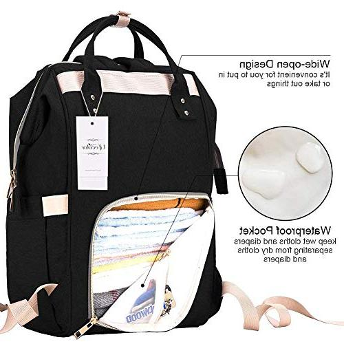 Diaper Bag Travel Backpack Bags for Capacity, Stylish Durable, Mom