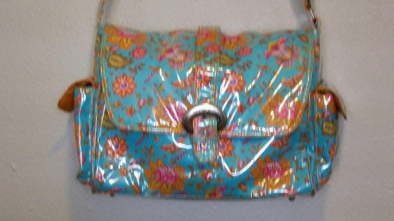 diaper bag unisex blue with yellow peach