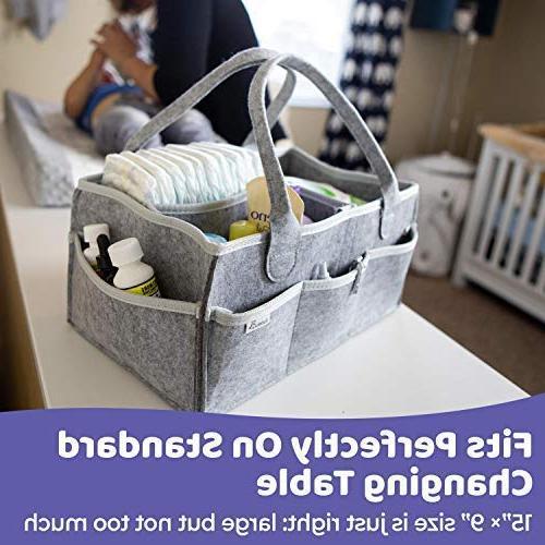 Putska Organizer: Portable Holder for Changing Car, Nursery bins 2 Pacifier 2