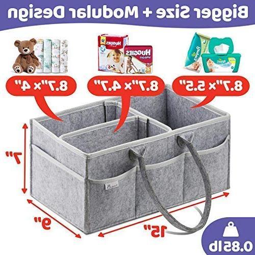 Putska Caddy Organizer: Portable Car, Nursery bins 2 Pacifier Clips, 2