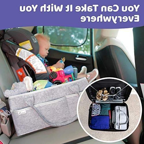 Putska Baby Organizer: for Table Car, Storage bins gifts 2 Pacifier 2 Bibs