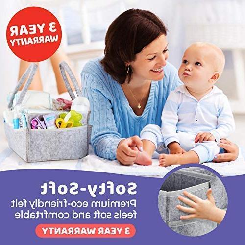 Putska Organizer: Holder Car, Nursery bins gifts with Pacifier Clips,