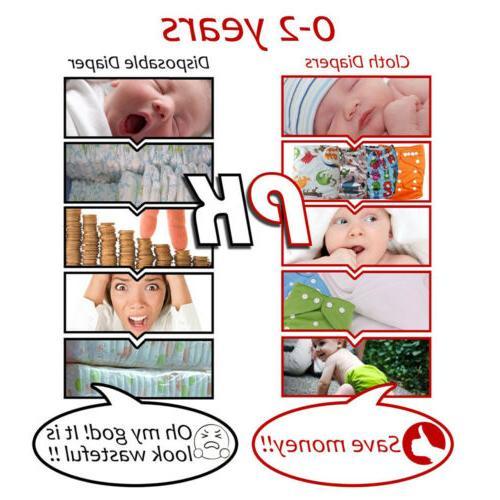 Diaper + Reusable Lot Baby Washable Diaper