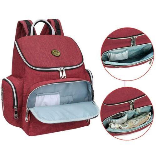 Diaper Bag Multi-Function Waterproof Backpack Bags Change Pad