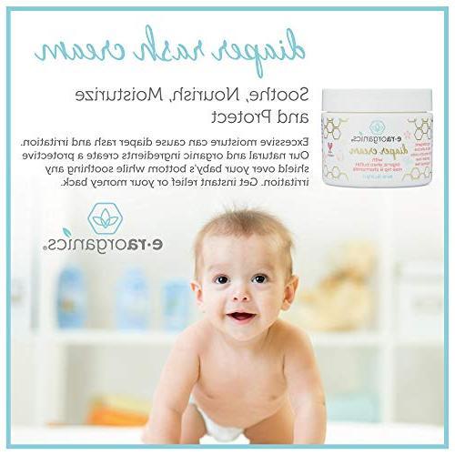 Diaper Rash Cream & Organic – Soothing Oxide Rash with Vera, Calendula, Hip & for Skin.