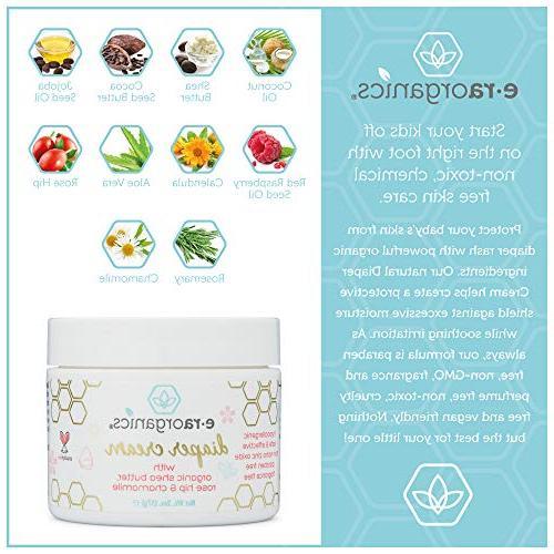 Diaper Cream & – Soothing Zinc Oxide Vera, Calendula, Hip & for Dry, Sensitive, Skin.