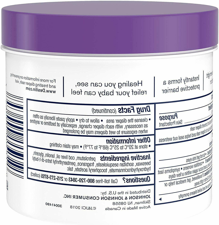Desitin Diaper Rash Strength Paste Zinc Oxide Ounce 2-PACK