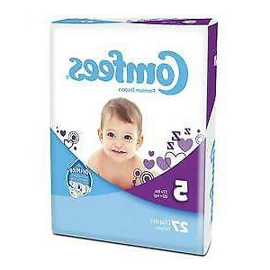 Baby Diaper Comfees Tab Closure Size 5 Disposable Case of 10