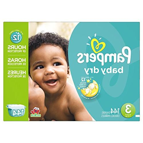 Pampers Baby Dry Diapers Size 3 Giant Pack, 144