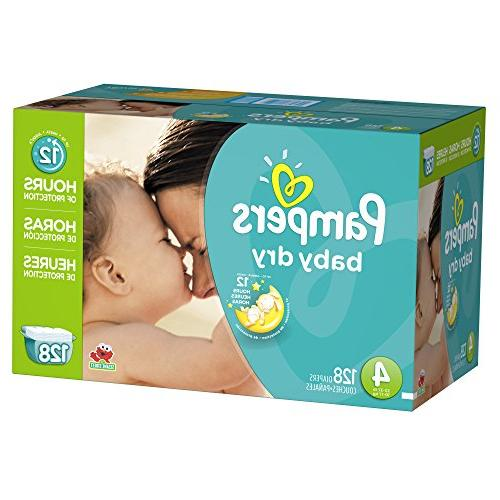Pampers Diapers Size 4 Pack, 128 ea