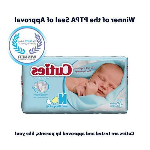 Cuties Diapers - Newborn lbs 4pks/42
