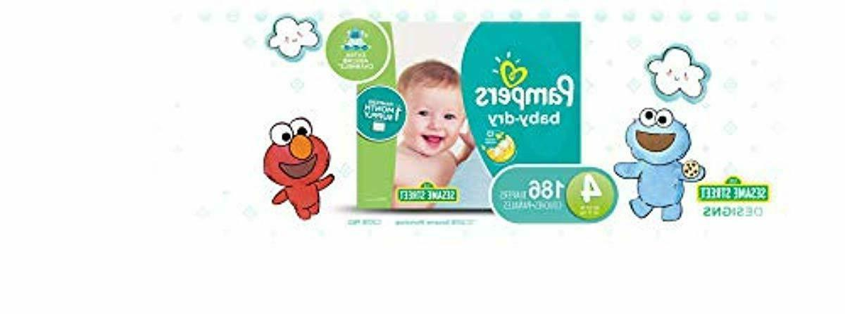 diapers size 4 186 count baby dry