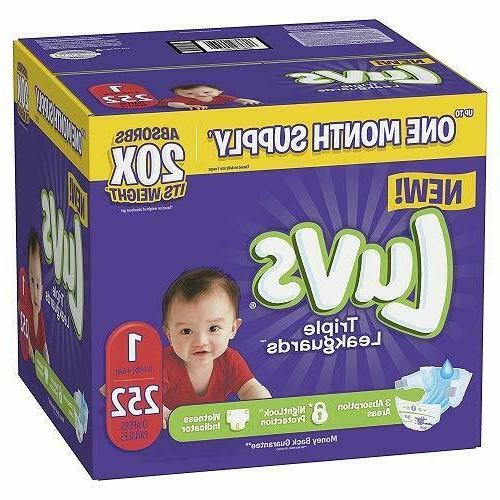 LUVS Ultra Leakguards Baby Diapers Size 2 - 228 units , CHEA