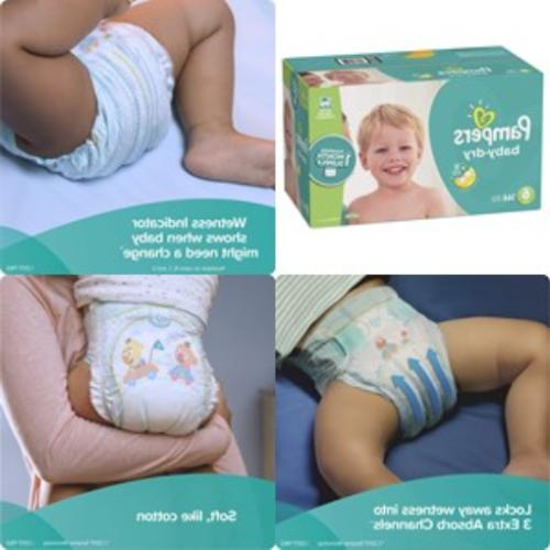 diapers size 6 144 count baby dry
