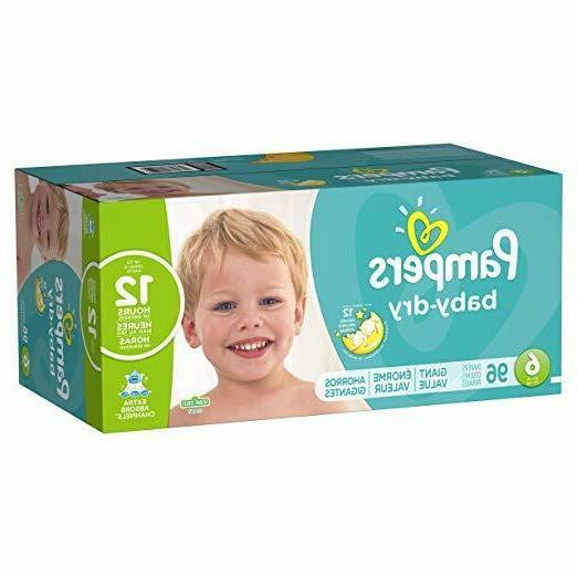 Diapers Size 6, 96 Count - Pampers Baby Dry Disposable Baby
