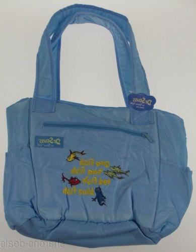 Dr. Seuss One Fish Two Fish Baby Diaper Bag Blue Trend Lab T