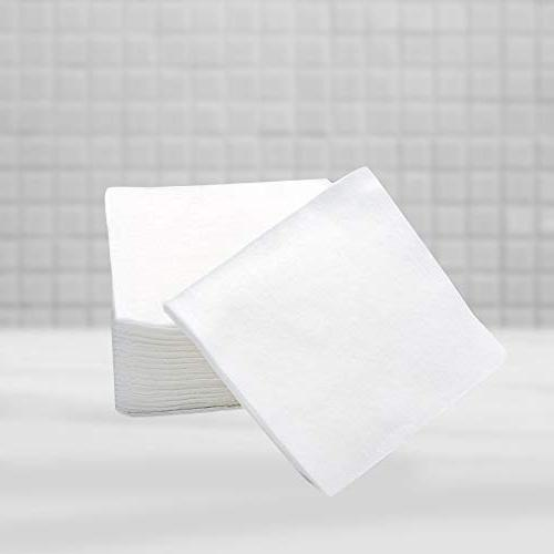 """Bellacotton Baby Large Cotton Square Pads x 4"""", White, 150 Count"""