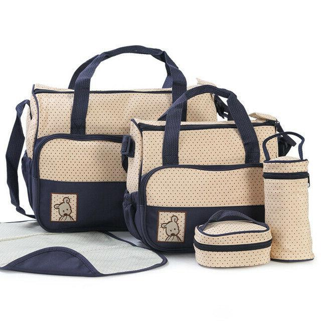 easy to carry 5pcs baby diaper bag
