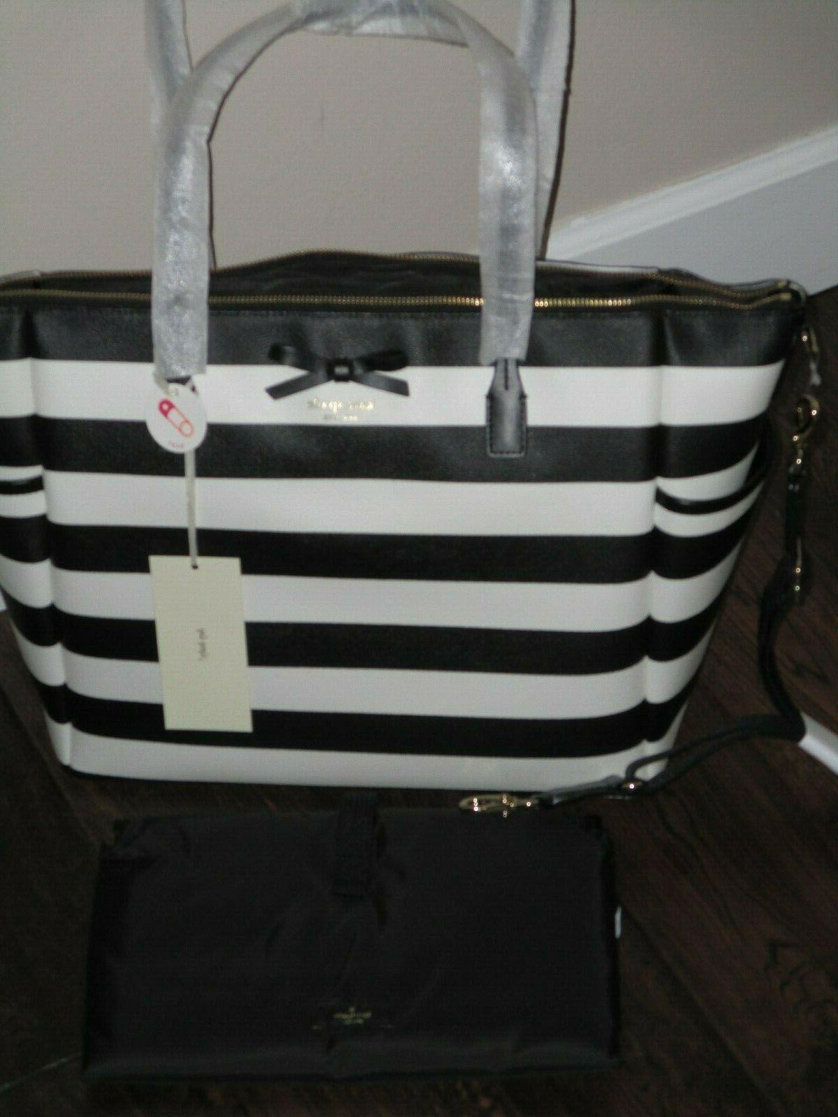 Kate York Eden Black Cream Stripe