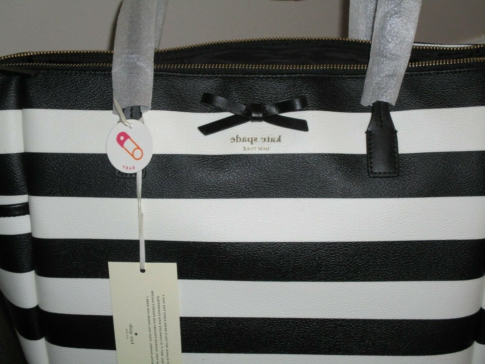 Kate Spade York Eden Black Cream Stripe