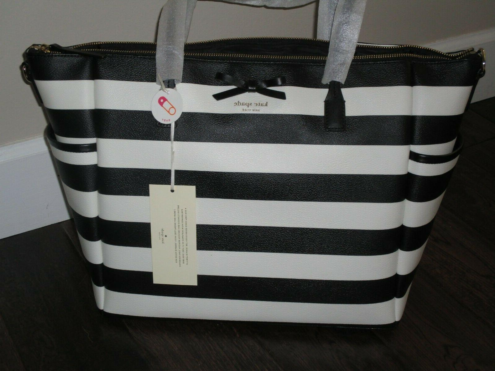 Kate New Eden Street Black Cream Stripe Baby