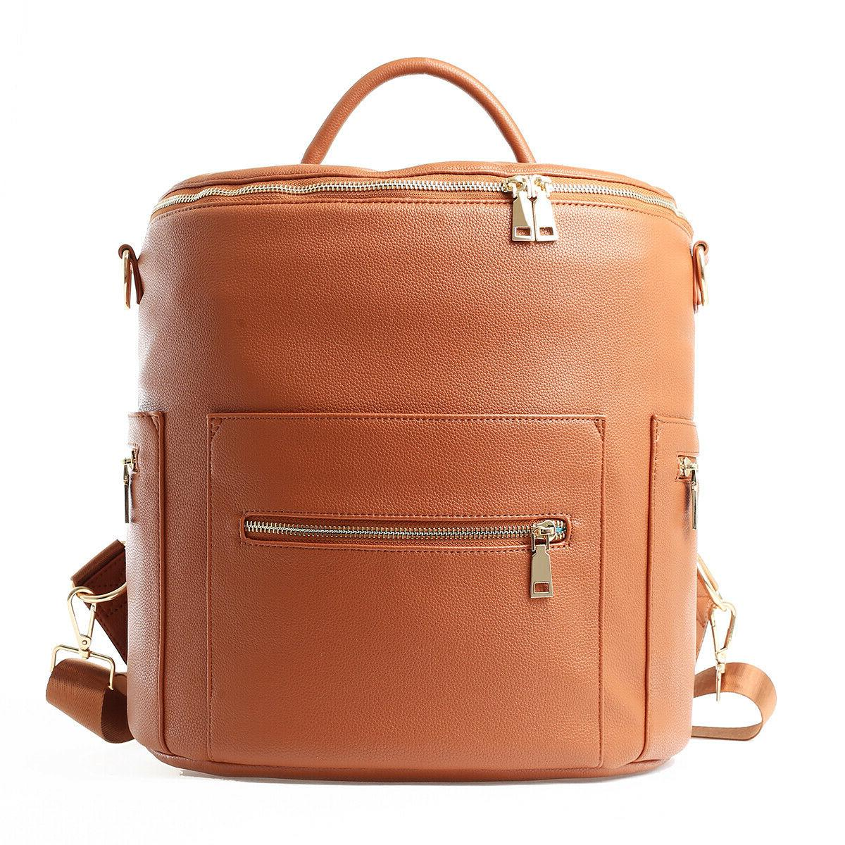 faux leather designer with backpack and convertible