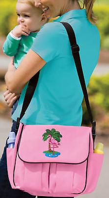 FLAMINGO Theme Diaper Bag BEST Shower Gifts for Daddy or Mom