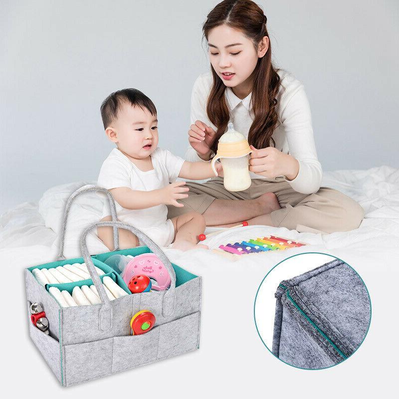 Foldable Felt Diaper Bag Baby Clothes Organizer