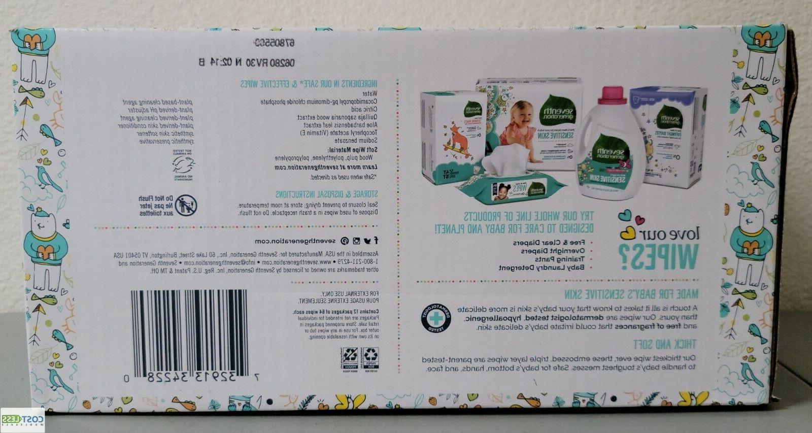 Seventh Free Clear Sensitive Wipes